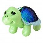 Schildkröte mit Pailletten Kuscheltier in grün