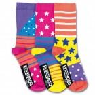Sterne und Streifen Socken in 30,5-38,5 im 3er Set