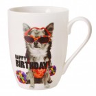 Chihuahua Hund Happy Birthday Kaffeebecher