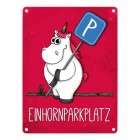 Honeycorns Einhornparkplatz Metallschild