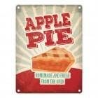 Metallschild mit American Diner Classics - Apple Pie Motiv
