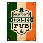 Metallschild mit Murphy's Irish Pub Motiv