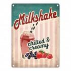 Milkshake Metallschild