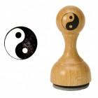Yin und Yang Holzstempel