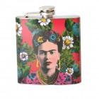 Frida Kahlo Flachmann in rot