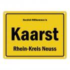 Herzlich willkommen in Kaarst, Rhein-Kreis Neuss Metallschild