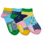 Blumen Füßlinge Socken in 37-42 im 3er Set