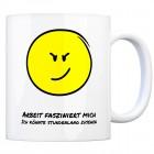 Kaffeebecher mit Spruch: Arbeit fasziniert mich Ich könnte ...
