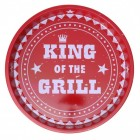 King of the Grill Serviertablett in rot