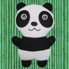 Panda Körnerkissen