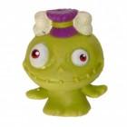 Mini Monster Stressball in grün mit Knochen im Haar