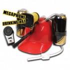Megafon Trinkhelm mit Mikrofon und 6 Soundeffekten