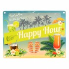 Das Happy Hour Blechschild in 15x20 cm