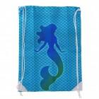 Meerjungfrau - blaue Schuppen Sporttasche