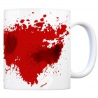 Kaffeebecher mit Blutbad Motiv