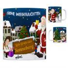 Sonneberg, Thüringen Weihnachtsmann Kaffeebecher