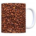 Kaffeebecher mit Kaffeebohnen Motiv
