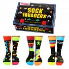 Sock Invaders Retro Gamer Oddsocks Socken in 39-46 im 6er Set