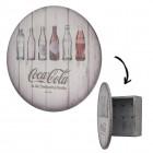 Coca-Cola Flaschengeschichte Schlüsselhalter aus Holz