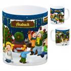 Ansbach, Mittelfranken Weihnachtsmarkt Kaffeebecher